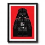 Darth Vader Toy Framed Print