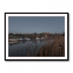 Dirty Reeds By Baz Diprose Framed Art Print