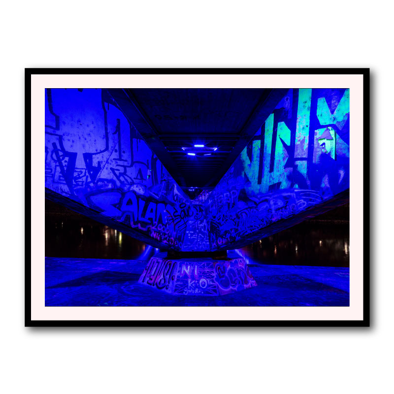 Neon By Baz Diprose Framed Art Print