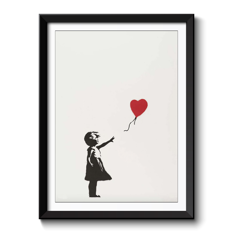 Banksy Girl With Balloon Framed Print