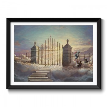 Banksy Heaven Framed Art Print