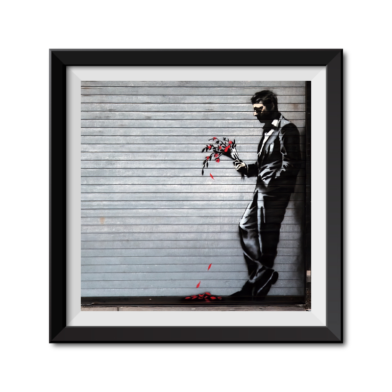 Banksy Waiting in Vain Framed Art Print