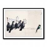 Banksy Satirizing Racism Framed Art Print