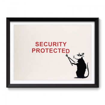 Banksy Security Protected Framed Art Print