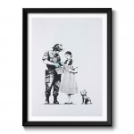 Banksy Stop and Search Framed Print