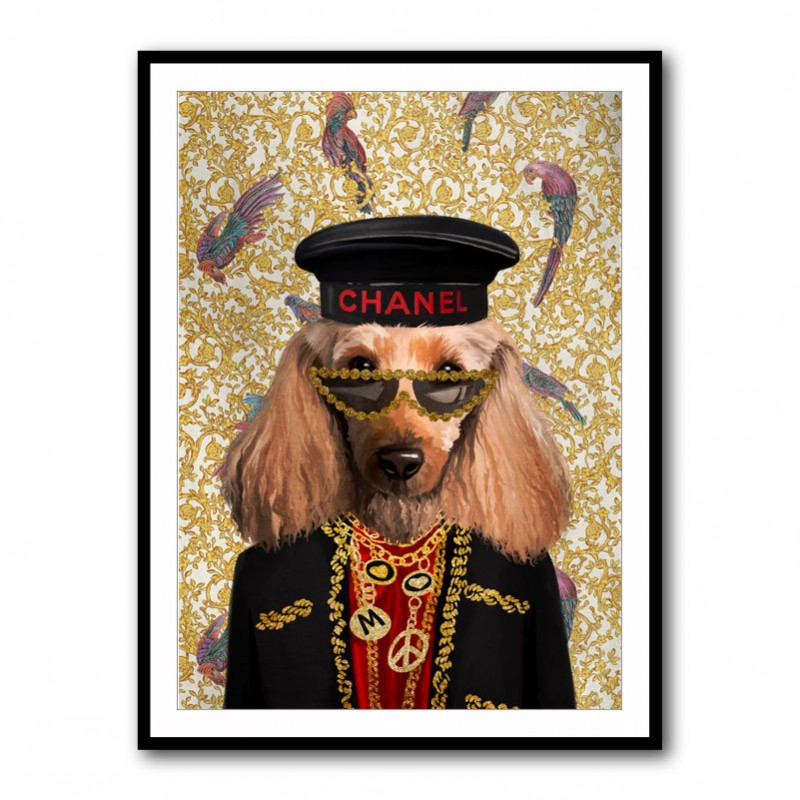 Fashion Victim Doggy Framed Art Print