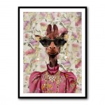 Fashion Victim Giraffe Framed Art Print