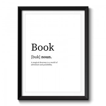 Book Typography Framed Print