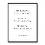Adornment Coco Chanel Quote Framed Art Print