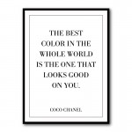 The Best Color Coco Chanel Quote Framed Art Print