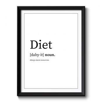 Diet Framed Art Print
