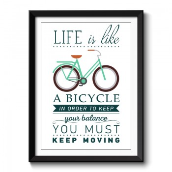 Life is Like a Bicycle Framed Art Print