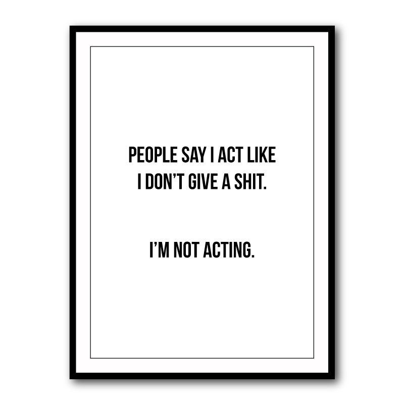 People Say Typography Framed Print