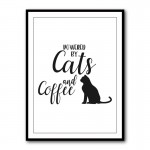Powered By Cat's and Coffee Typography Framed Print