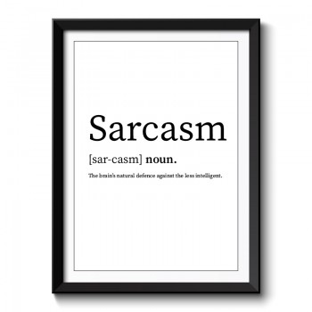 Sarcasm Framed Art Print