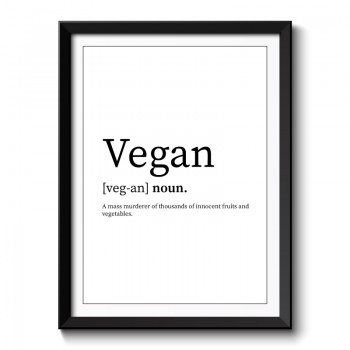 Vegan Framed Art Print