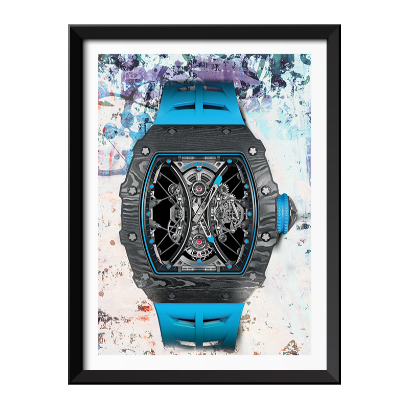 RM Blue Watch Graffiti Style Framed Print