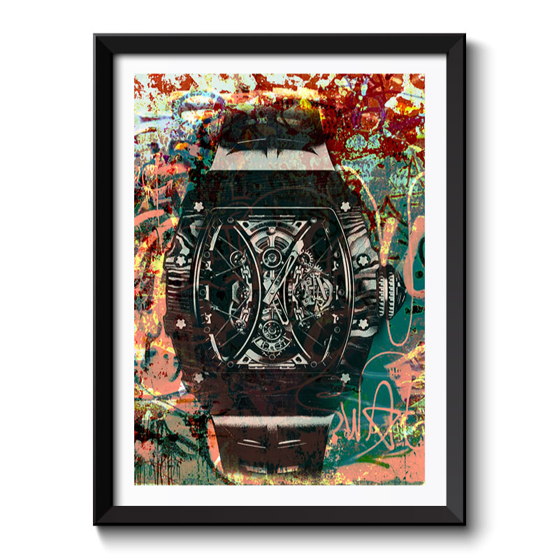RM Watch Graffiti Style Framed Print