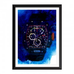 RM Watch Ink Style Framed Print