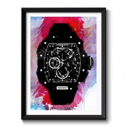 RM Watch Red Background Framed Print